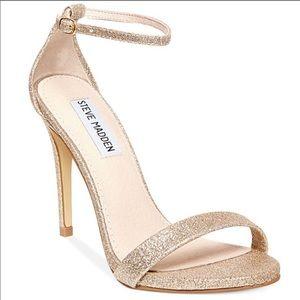 Steve Madden Stecy Sandal Gold Glitter Size 8